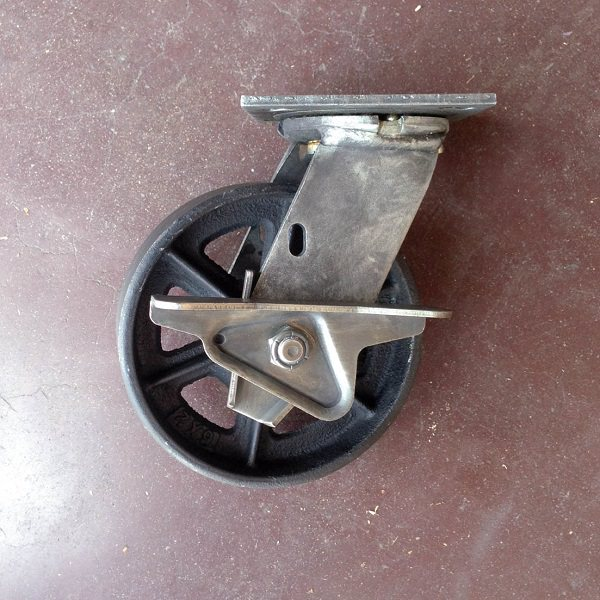 6 inch antique caster with brake