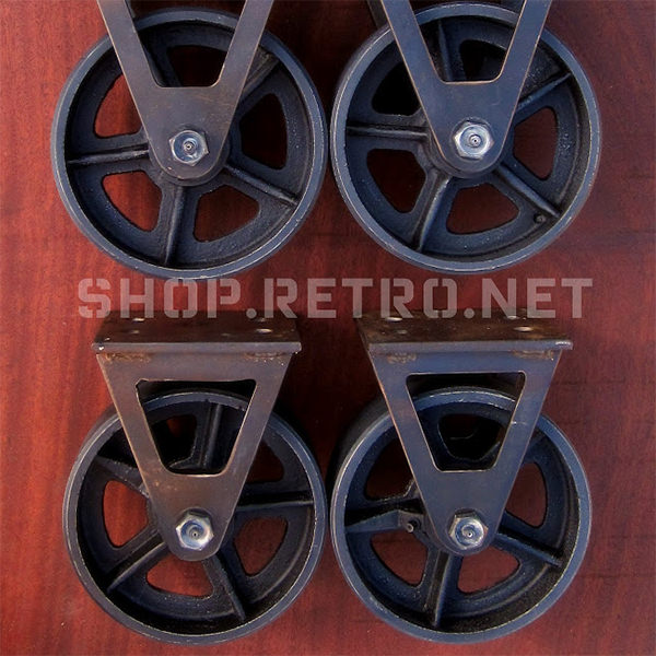 6 Factory Caster Vintage Industrial Furniture