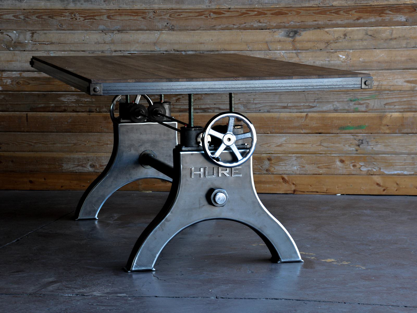 Hure Crank Table Vintage Industrial Furniture