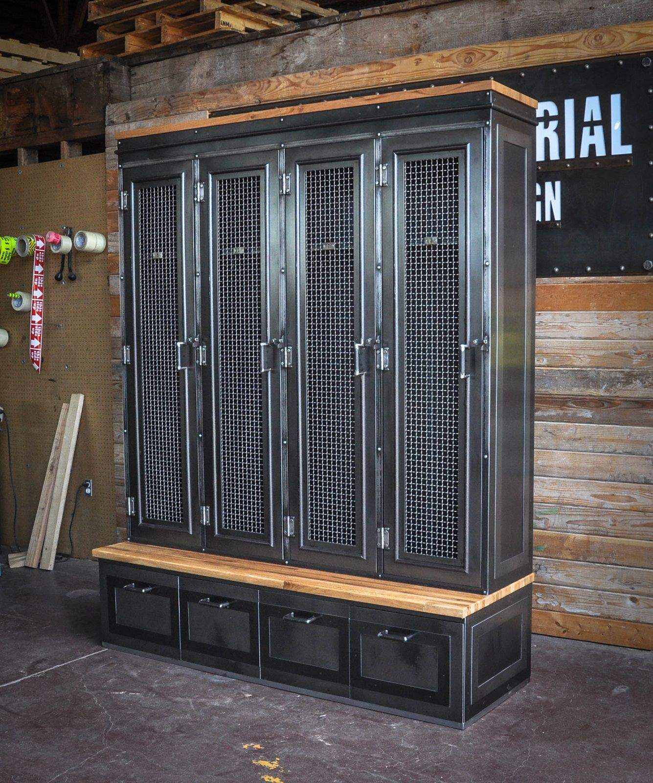 Mudroom Storage Lockers For Sale : Country club locker vintage industrial furniture