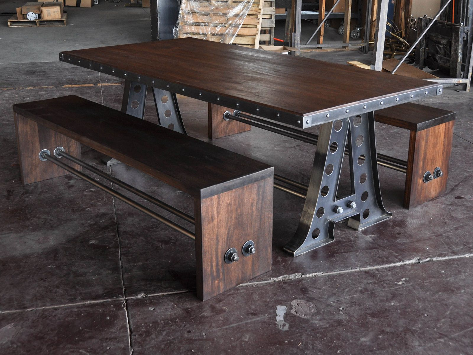 Benches Dining Table: Vintage Industrial Furniture
