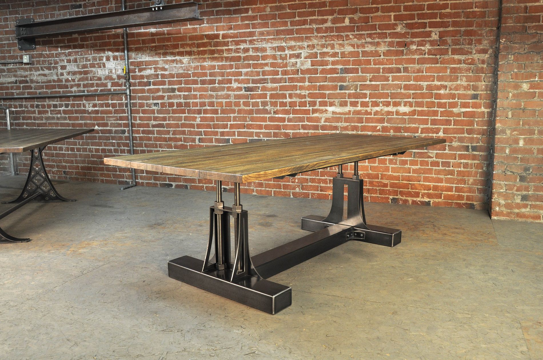 Post industrial table vintage industrial furniture - Industrial kitchen tables ...