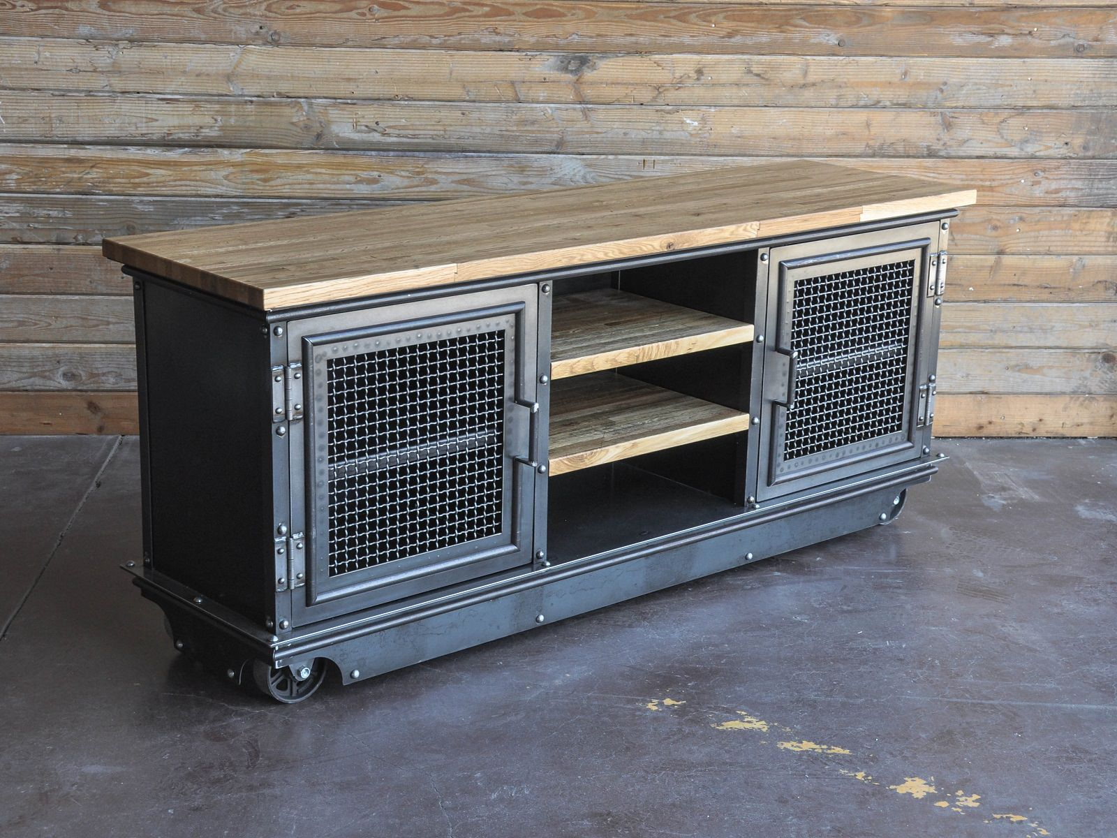 boxcar ellis console vintage industrial furniture. Black Bedroom Furniture Sets. Home Design Ideas